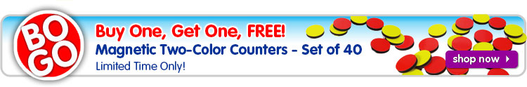 BOGO Two-Color Counters. Limited Time Only!