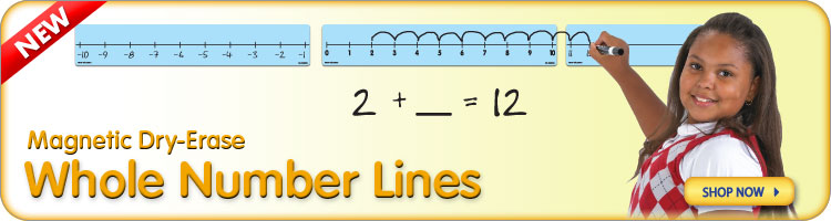 Magnetic Dry-Erase Whole Number Lines