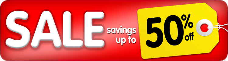 Web Deals! Savings up to 50% off