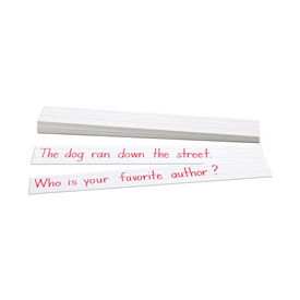 Sentence Strips: White Tag Board