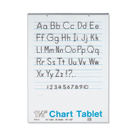 "Chart Tablets: 24"" x 32"" - 1-1/2"" Ruled - Set of 6"