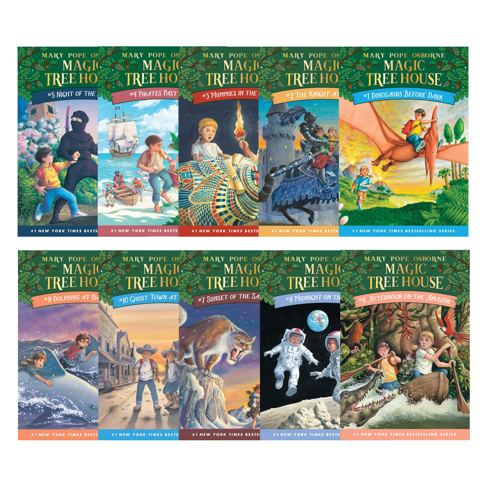 Do magic tree house books have pictures