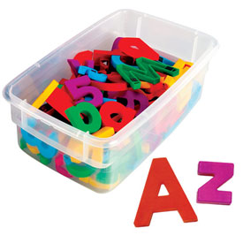 "Multicolored AlphaMagnets: Jumbo 2-1/2"" Uppercase - Set of 42"