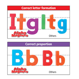 "Color-Coded AlphaMagnets: 1-1/2"" Lowercase - Set of 42"