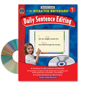 Interactive Learning: Daily Sentence Editing: Grade 1