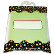 "Book Storage Bags - Dots - 10½"" x 12½"" - Set of 6"