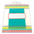 "Book Storage Bags - Chevron 10½"" x 12½"" - Set of 6"