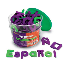 Spanish Magnetic Learning Letters - Set of 120