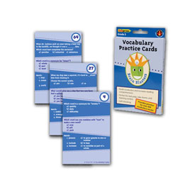 Brain Blasters Vocabulary Practice Cards: Grade 5