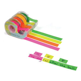 "Highlighter Tape: 1/2"" Fluorescent Orange"