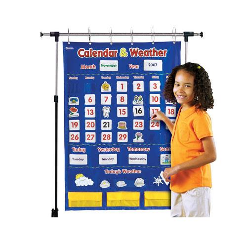 Classroom Calendar Chart : Calendar weather pocket chart classroom resources