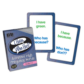 I Have, Who Has? Advanced High Frequency Words Game: Grades 1-2