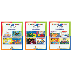 Learn to Read Workbook Set of 3: Levels B-D