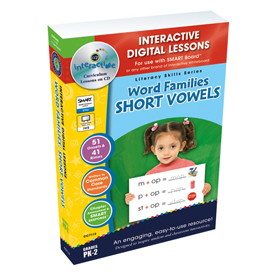 Word Families: Short Vowels IWB Digital Lesson Plans