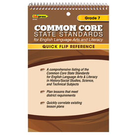 Quick Flip Resources™ for Common Core Standards, ELA, Grade 7
