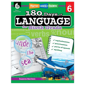 Practice, Assess, Diagnose: 180 Days of Language for Sixth Grade