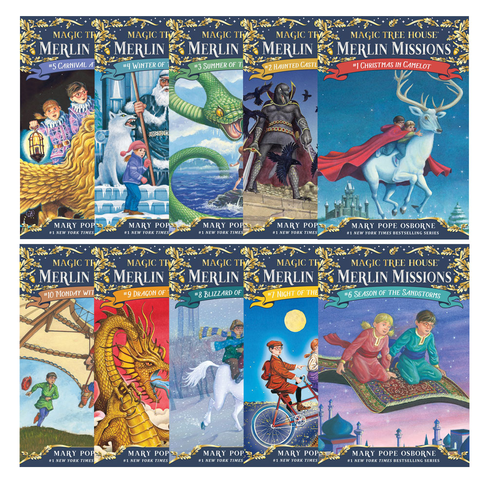 the magic tree house: merlin missions series - books 1-10 - new