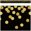 Confetti Straight Border Trim - Black