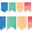 Watercolor Pennants Big Big Border