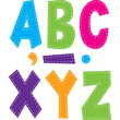 "7"" Multi Bright Stitch Fun Font Letters"