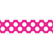 Hot Pink with Polka Dots Straight Borders Rolled