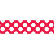 Red with Polka Dots Straight Borders Rolled