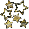 Sparkle and Shine Black and Gold Stars Cut-Outs