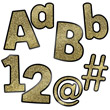 Sparkle and Shine Gold Glitter Combo Pack EZ Letters
