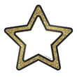 Sparkle + Shine Gold Glitter Stars Cut-Outs