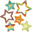 Sparkle and Shine Rainbow and Foil Stars Cut-Outs