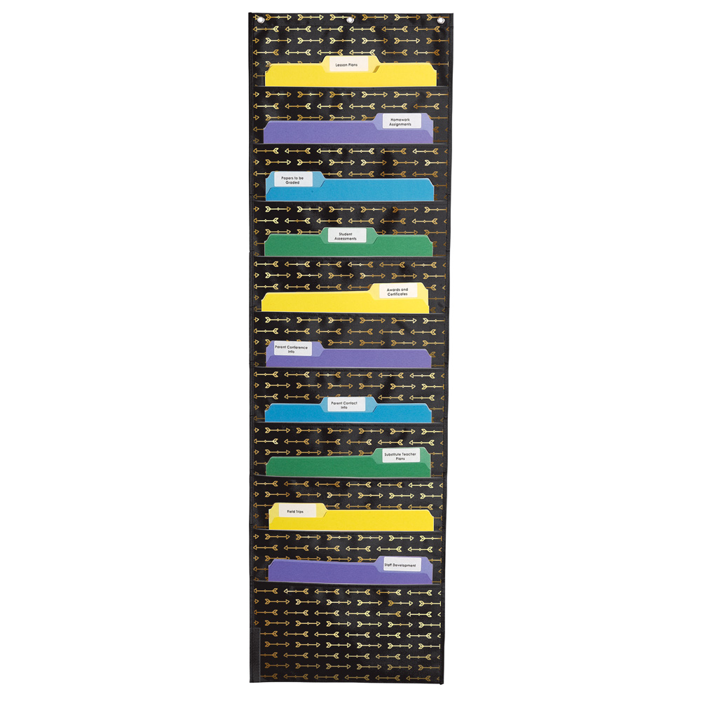 Gold Arrows 10-Folder Pocket Chart