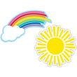 Hello Sunshine Rainbows & Suns Cut-Outs