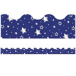 Sparkle + Shine Navy with Foil Stars Scalloped Borders