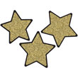 Sparkle + Shine Solid Gold Glitter Stars Cut-Outs