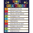 Sparkle + Shine 10 Ways to Be a Great Student Chart