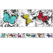 Woodland Whimsy Butterflies Straight Borders