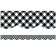 Woodland Whimsy Black & White Gingham Scalloped Borders