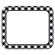 Woodland Whimsy Black & White Gingham Name Tags