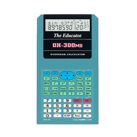 Casio® OH-300MS Overhead Scientific Calculator: Emulates Casio® FX-300MS Plus