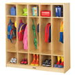 Jonti-Craft® Coat Locker - 5 Sections