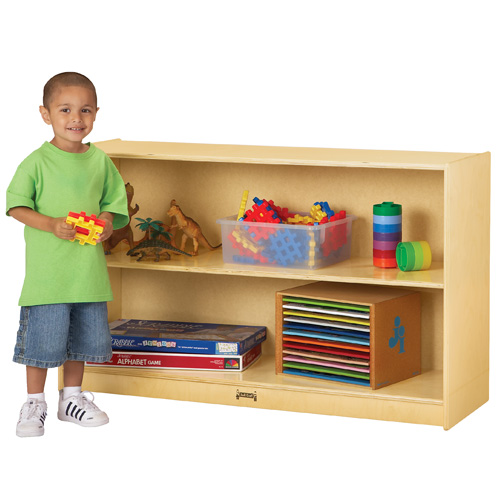 Jonti Craft 174 Low Mobile Straight Shelf Early Childhood