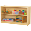 Jonti-Craft® Low Straight-Shelf Mobile Unit