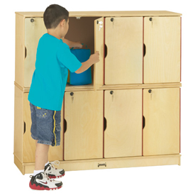 Jonti-Craft® Stacking Lockable Lockers - Double Stack