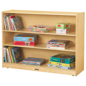 Jonti-Craft® Super-Sized Adjustable Mobile Straight-Shelf