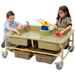 Premium Sand & Water Sensory Center - Earthtones