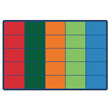 Colorful Rows Seating Carpet - 6' x 9' - Seats 25