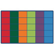 "Colorful Rows Seating Carpet - 8'4"" x 13'4"" - Seats 30"