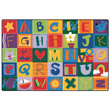 Toddler Alphabet Blocks Carpet - Primary Colors - 6' x 9'