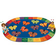 "123 ABC Butterfly Fun Carpet - 6'9"" x 9'5"""