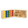 Jonti-Craft® 20 Cubbie-Tray Fold-n-Lock with Colored Trays